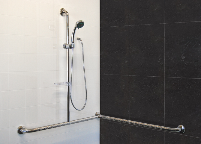 Stainless Steel Corner Slide Shower Safety T Rail