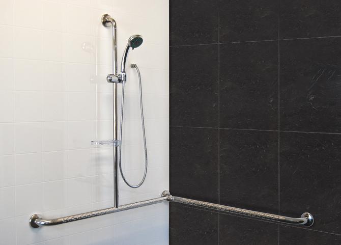 Stainless Steel Corner Slide Shower Safety T-Rail - SuperQuip ...