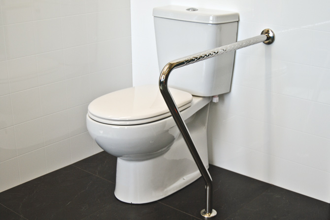 Bathroom safety rail
