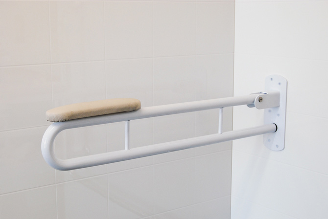 Powdercoated Premium Steel Folding Toilet Rail From