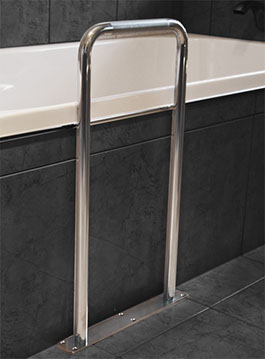 Stainless Steel Bath Safety Grab Rail Superquip