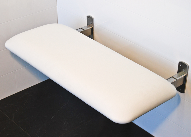 Sapphire Padded Folding Shower Seat For Elderly And