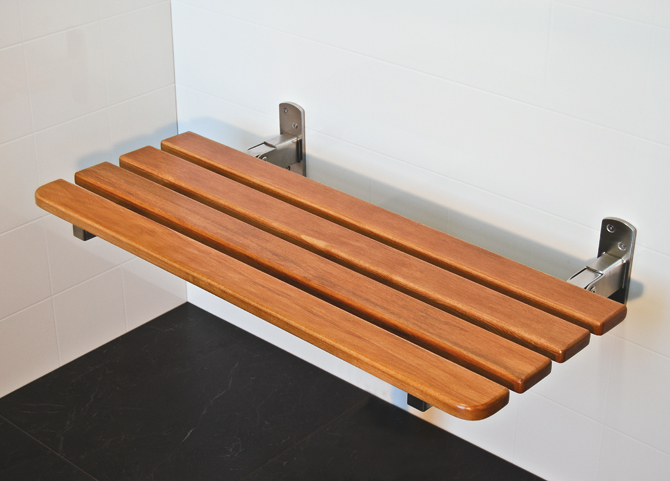 Sapphire Rimu Folding Shower Seats For Elderly And