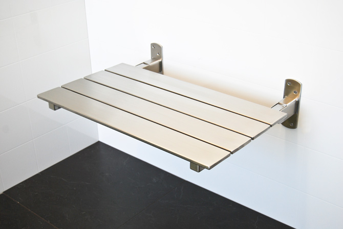 Stainless Steel Folding Shower Seat For Elderly And Disabled