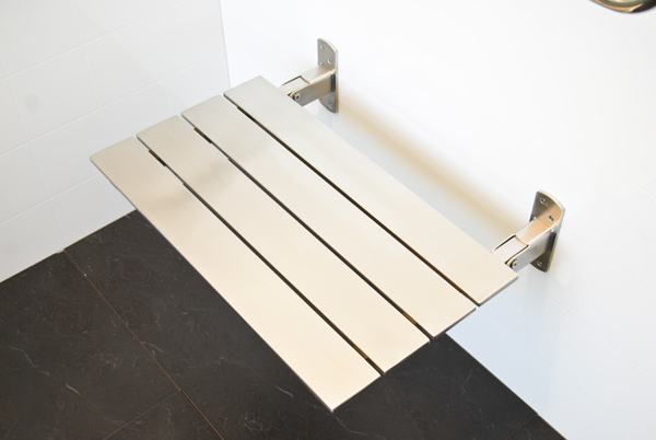 Stainless Steel Folding Shower Seat For Elderly And