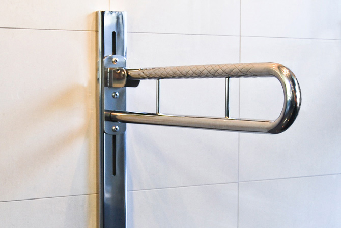 Stainless Steel Adjule Folding Drop Down Toilet Rail
