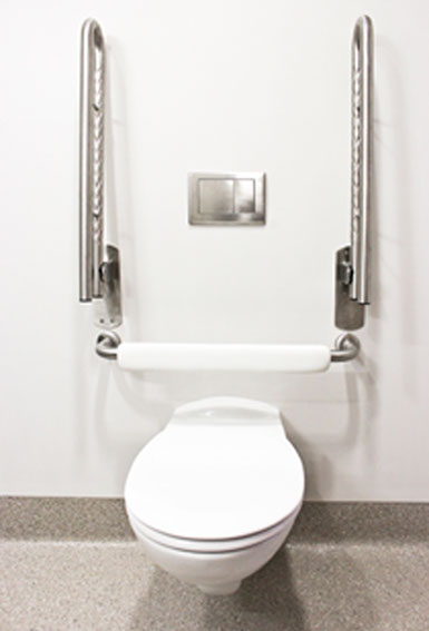 Stainless Steel Toilet Seat Support Safety Rail Superquip Stainless Steel Safety